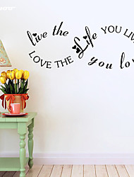 cheap -AWOO®  Live Love  Wall Sticker DIY Home Decorations Quotes Vinyl Wall Decals Wall Mural Art