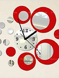 Fashion Top Grade  Creative DIY  Acrylic Mirror Wall Wall Poster Colours Roundness Wall Clock