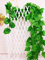 Simulation Lobular Plants Grape Leaves Wall Artificial Plants(Stt of 10 Pieces)