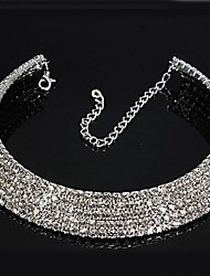 cheap -Women's Synthetic Diamond Rhinestone Choker Necklace - Bridal Circle Necklace For Wedding Party