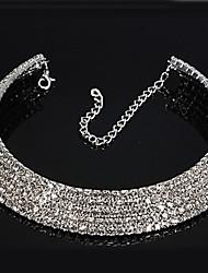 baratos -Mulheres Diamante sintético Strass Gargantilhas  -  Casamento Formato Circular Colar Para Casamento Festa