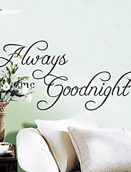 AWOO® New Wall Sticker Always Goodnight  Pattern Group On Behalf Of English customization