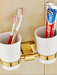 cheap -Toothbrush Holder Bathroom Gadget / Ti-PVD Brass /Neoclassical
