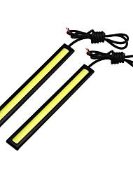 abordables -2pcs Automatique Ampoules électriques 6W COB 400lm 2*COB Feux de Circulation Diurnes