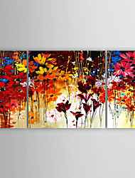 cheap -Hand-Painted Still Life Modern Canvas Oil Painting Home Decoration Three Panels