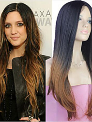 cheap -Synthetic Wig Straight Ombre Hair Brown Women's Capless Celebrity Wig Natural Wigs Long Synthetic Hair