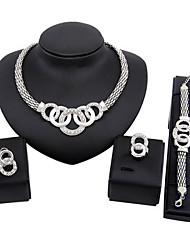 cheap -Women's Jewelry Set Luxury Vintage Cute Party Casual Link/Chain Fashion Party Special Occasion Anniversary Birthday Gift Gold Plated