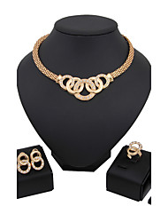 cheap -Jewelry Set Luxury Vintage Cute Party Casual Link/Chain Fashion Gold Plated Imitation Diamond Alloy Bracelet Necklace Earrings