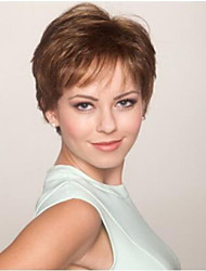 Charming  Style  Brown  Short Syntheic  Wig Extensions High Quality