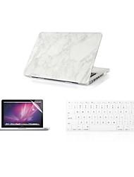 """Недорогие -3 в 1 моде мрамор покрытие кейс + крышка клавиатура + протектор экрана для MacBook Air 11 """"13"""" сетчатки / 15 """""""