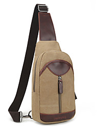 Men Bags All Seasons Canvas Sling Shoulder Bag with for Casual Black Brown Khaki