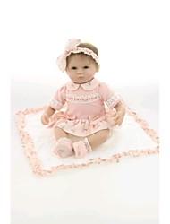 preiswerte -NPK DOLL Lebensechte Puppe Baby 18 Zoll Silikon / Vinyl - lebensecht, Handaufgetragene Wimpern, Gekippte und versiegelte Nägel Kinder Mädchen Geschenk / ASTM / Natürlicher Hautton / Floppy Head