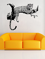 cheap -Tiger Leopard Waterproof Wall Stickers Creative Personality Living Room Bedroom Decoration Removable Poster Wallpaper