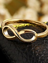 cheap -Women's Band Ring - Zircon, Gold Plated Infinity 6 / 7 / 8 Golden For Wedding / Party / Daily