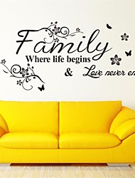 English Word Family Living Room Sofa Wall Decals Home Decoration Wallpaper Painting Removable Wall Sticker Home Decor