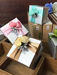 Недорогие -Кубик Картон Фавор держатель с Подарочные коробки - 6