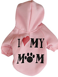 cheap -Dog Hoodie Dog Clothes Casual/Daily Cartoon White Gray Green Pink Costume For Pets