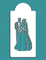 cheap -Bride and Groom Cake Stencil,Wedding Cake Decorations Stencils cake Mold Mould, Fondant Cake Decoration Tools ST-115