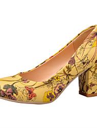 Da donna-Tacchi-Matrimonio Formale Serata e festa-Comoda Scarpe Flower Girl-Quadrato-PU (Poliuretano)-