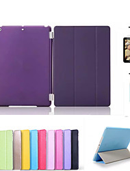 cheap -Case For iPad Mini 3/2/1 with Stand Auto Sleep / Wake Origami Full Body Cases Solid Color PU Leather for iPad Mini 3/2/1