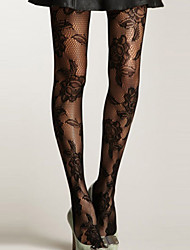 cheap -Women's New Fashion lace thin Seamless Floral Fishnet Tights