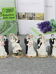 baratos -Decorações de Bolo Tema Praia Tema Jardim Tema Asiático Tema Flores Tema Clássico Casal Clássico Resina Casamento Aniversário Chá de