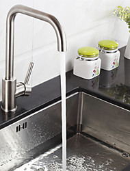cheap -Deck Mounted Single Handle One Hole Stainless Steel Kitchen Faucet K40CF19SS