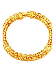 18K Stamp Gold Plated Korea Bracelet New Fashion Rock Style 20 CM 8 MM Thick Snake Chain Bracelet Jewelry B40185