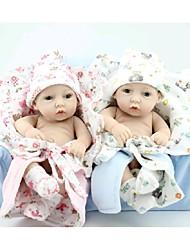 Недорогие -npkdoll возрождается кукла ребенка жесткий силикон 11inch 28см водонепроницаемый игрушка маленький одеяло мальчик и девочка