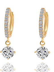 cheap -Women's Drop Earrings Costume Jewelry Brass Cubic Zirconia Silver Plated Jewelry For