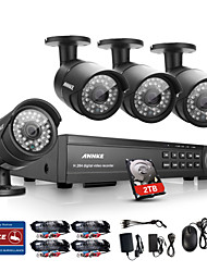 ANNKE® 16CH HD 1080P DVR HDMI 4 Outdoor IR Home Video Security Camera System 2TB