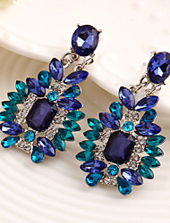 cheap -Women's Drop Earrings Luxury Synthetic Gemstones Cubic Zirconia Alloy Jewelry Blue Costume Jewelry