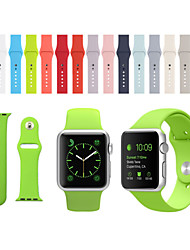 abordables -Bracelet de Montre  pour Apple Watch Series 3 / 2 / 1 Apple Bracelet Sport Silikon Sangle de Poignet