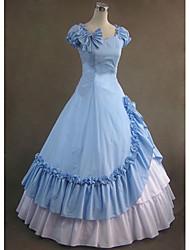 billige -Middelalderkostumer Victoriansk Kostume Dame Kjoler Maskerade Festkostume Vintage Cosplay Bomuld Uden ærmer Lang Længde