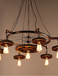 Creative Gear Of Retro Home Furnishing Bedroom Aisle Iron Chandelier