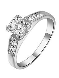 baratos -Cristal - Imitações de Diamante Clássico, Pedras dos signos Prata / Dourado Para