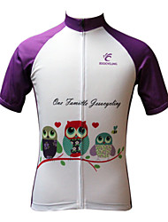 levne -JESOCYCLING Dámské Krátký rukáv Cyklodres Jezdit na kole Dres, Rychleschnoucí, Odolný vůči UV záření, Prodyšné, Ter Emen