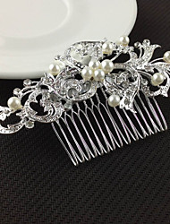 Alloy Hair Combs With Imitation Pearl/Rhinestone Wedding/Party Headpiece Hair Comb for Wedding Party Hair Jewelry