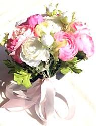 """Недорогие -Свадебные цветы Букеты Свадьба / Вечеринка / ужин Satin 11,8""""(около 30см)"""
