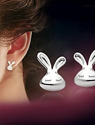cheap -Women's Cubic Zirconia Stud Earrings - Sterling Silver, Zircon, Silver For Wedding Party Daily