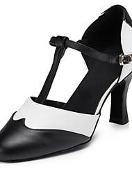 abordables -Femme Chaussures Modernes Similicuir Sandale / Talon Boucle Talon Personnalisé Personnalisables Chaussures de danse Noir et blanc / Intérieur / Utilisation / Entraînement / Professionnel