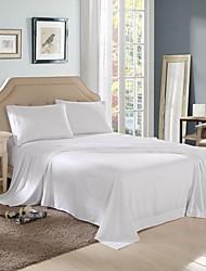 economico -Tinta unita 4 pezzi Poliestere Tinto a pezzi Poliestere Copri cuscino (2 pz.) Lenzuolo (1 pz.) 1 Lenzuolo elastico (Se è per letto