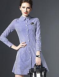 cheap -Women's Street chic Sheath Dress - Striped, Flower