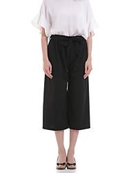baratos -Mulheres Clássico Perna larga Jeans Calças - Sólido
