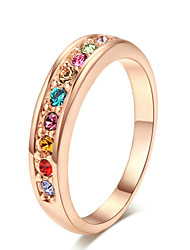 cheap -Women's Luxury / Colorful Crystal Alloy Band Ring - Luxury / Colorful / Fashion Ring For Party