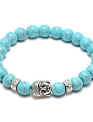 cheap -Bead Bracelet Turquoise Volcano two Stone Head Strand Bracelet Power Blance  Christmas Gifts