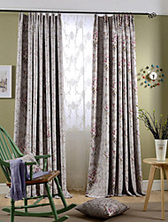 cheap -Blackout Curtains Drapes Bedroom Polyester Print
