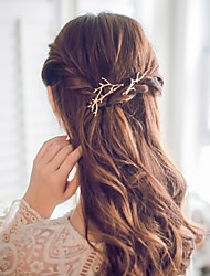 cheap -Alloy Hair Clip,Simple Cute Romantic Casual/Sporty Office/career Korean Golden