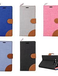billiga -fodral Till Samsung Galaxy Samsung Galaxy-fodral Korthållare / med stativ / Lucka Fodral Enfärgad PU läder för On 7 / On 5 / Grand Prime