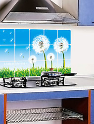 cheap -Removable Kitchen Oilproof Wall Stickers with Dandelion Style Water Resistant Home Art Decals